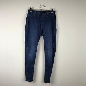 Cabi Denim Elastic Waist Zipper Side Skinny Jeans